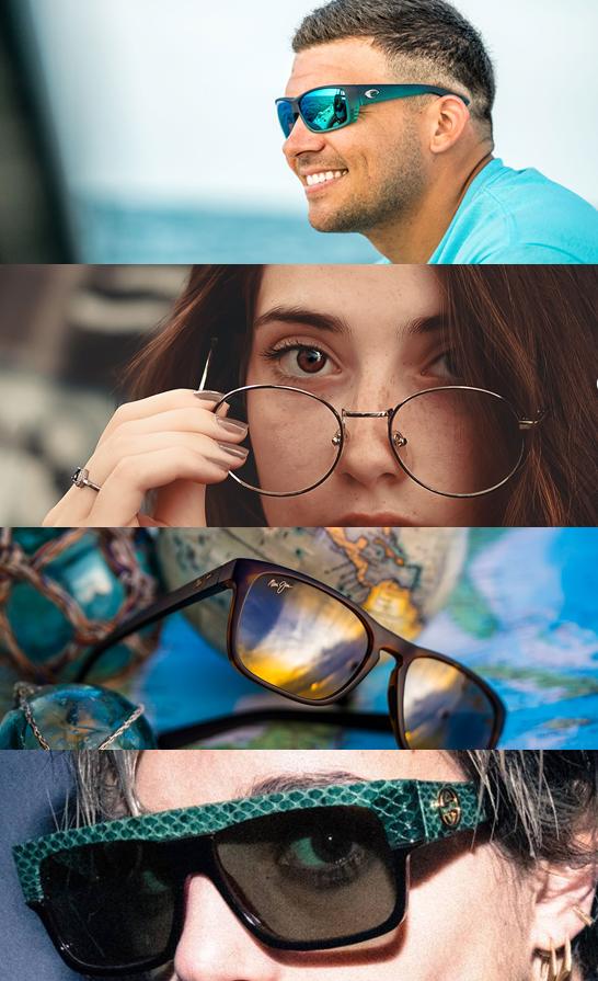 Designer Rx glass and sunglasses